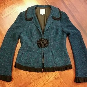 Teal tweed jacket